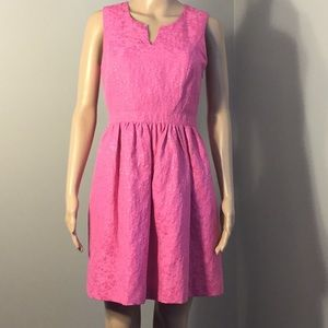 KENSIE : HOT PINK SLEEVELESS DRESS:  Size S